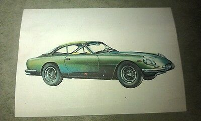 1966 FERRARI 250GT Jacques Chocolates BELGIUM Trade Swap Card - RARE !