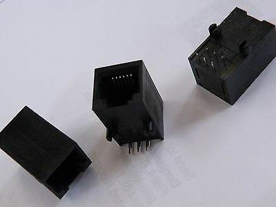 Pk of 3, 5, 10 or 90 Pc PCB Mounting RJ11 Female Connector 6 Pin (NOT RJ45) CG11