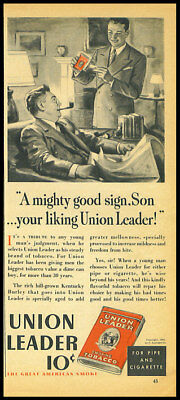 1939 vintage ad for Union Leader Pipe Tobacco -168