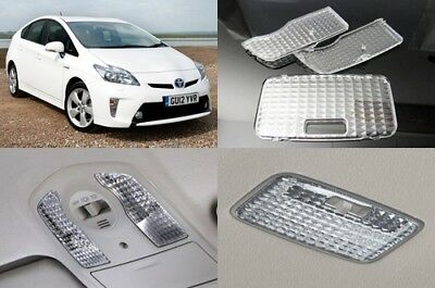JDM Diamond Crystal Clear Interior Dome Map Light Lamp Cover Toyota Prius ZVW30