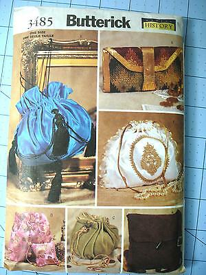 2002 Butterick Historical Purse/ Bag Pattern- Cut/Uncut- #3485- Crafts
