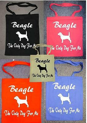 Beagle The Only Dog For Me Printed Shopping Bag Various Colours
