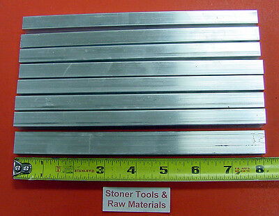 "8 Pieces 1/2"" X 1"" ALUMINUM 6061 FLAT BAR 8"" long .500"" T6511 Plate Mill Stock"