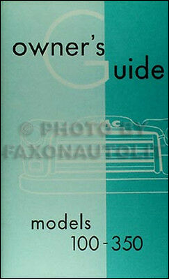 1955 GMC Series I Pickup Truck Owners Manual 100-350 First 1st Owner Guide Book