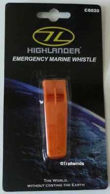 Emergency Marine Whistle for Outdoor Sports, Survival, Bright Orange Extra Loud