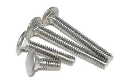 """Stainless Steel (18-8) Carriage Bolt 1/4""""-20 x 1-1/2"""" Qty:100"""