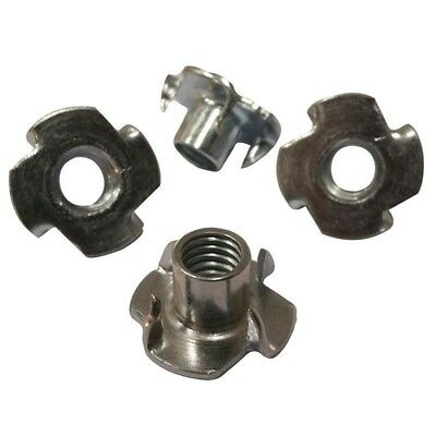 "4 Prong T Nut 1/4""-20 x 7/16"" (Tee Nut) Qty: 500   Zinc Plated"