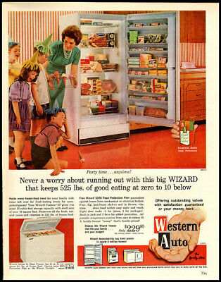 1963 vintage ad for Western Auto Home Freezers -1283