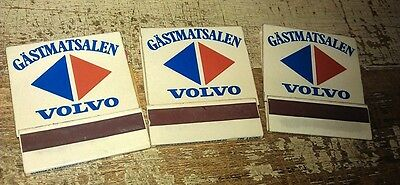 1970s VOLVO  Dealer Matchbooks x 3  RARE