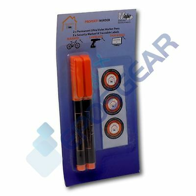 10 Permanent Ultra Violet Security Property Marker Marking Pens Invisible UV Ink