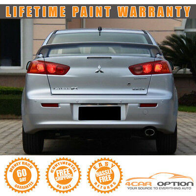 08-17 Mitsubishi Lancer 4Dr OE Trunk Spoiler Painted A31 Cool Silver Metallic