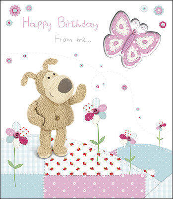 Boofle Fold Out Card ' Happy Birthday From Me ' Official Boofle Greeting Cards