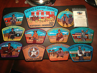 Grand Canyon Council 2005 National Jamboree Jsp Set With Cards Included