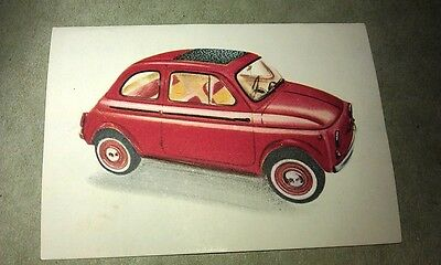1962 FIAT 500 NUOVA  Jacques Chocolates BELGIUM Trade Swap Card - RARE !