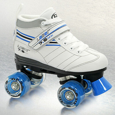Roller Derby Laser 7.9 MX Kids/Girls/Ladies Quad Roller Skates sizes US3 to US8