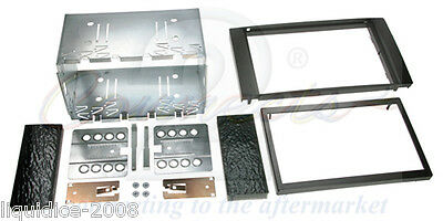 Ct23Fd01 Ford Transit 2006 Onwards Black Double Din Fascia Facia Adaptor Panel