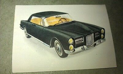 1962 FACEL VEGA  Jacques Chocolates BELGIUM Trade Swap Card - RARE !