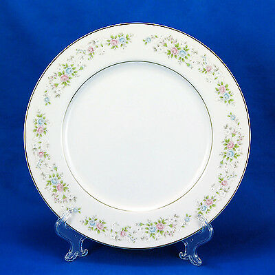 Carlton - Japan CORSAGE Dinner Plate 10.625 in. Pink Blue White Flowers on Rim