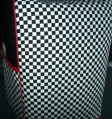 Black White Checkered Squares Quilted Cover for KitchenAid Mixer NEW