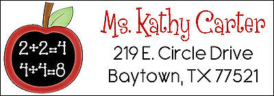 BACK TO SCHOOL APPLE with MATH - Return Address Labels