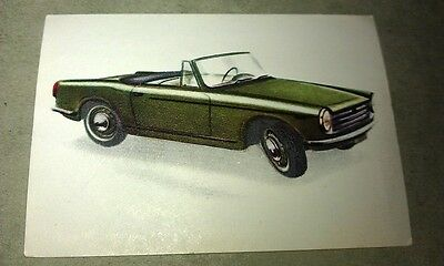 1962 INNOCENTI 950 SPYDER  Jacques Chocolates BELGIUM Trade Swap Card - RARE !
