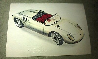 1962 PORSCHE RSK SPYDER  Jacques Chocolates BELGIUM Trade Swap Card - RARE !