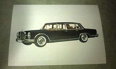 1966 MERCEDES BENZ 600  Jacques Chocolates BELGIUM Trade Swap Card - RARE !