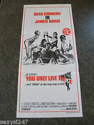 You Only Live Twice James Bond 007 Original Daybill Poster From 1968 Re