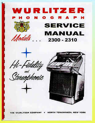 Wurlitzer 2300-2310 Service Manual