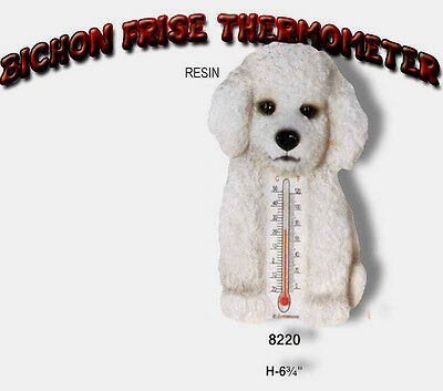 BICHON FRISE Dog Stone Wall / Garden THERMOMETER New USA Only