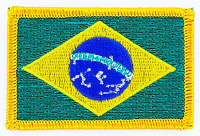 Patch Ecusson Brode Drapeau Bresil Insigne Thermocollant Neuf Flag Patche