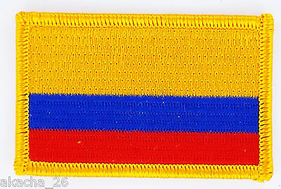 Patch Ecusson Brode Drapeau Colombie  Insigne Thermocollant Neuf Flag Patche