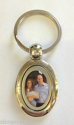 Baby Prince George, Prince William & Kate Middleton Silver Plated Keyring