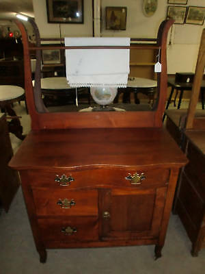 Antique Washstand with Towel Bar Rack