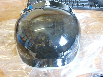 NOS Paulson Helmet Bubble Shield Visor Made USA Vintage Chopper Bobber 3 Snap