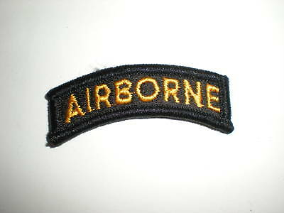 U.s. Army Airborne Tab Patch -Full Color Yellow/black