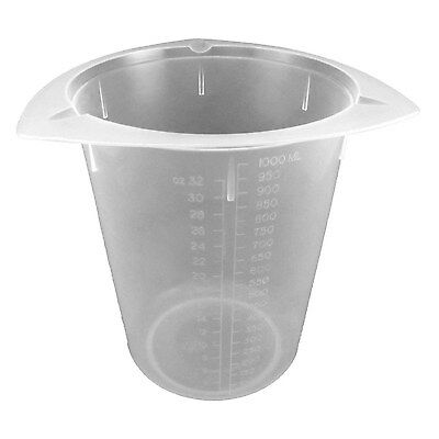 Dyn-A-Med 80094 Polypropylene Tri-Pour Disposable Beaker, 250mL Capacity