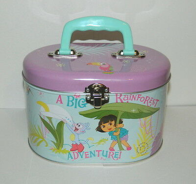 Dora the Explorer Illustrated Tin Sewing Box Tote Style A, NEW UNUSED