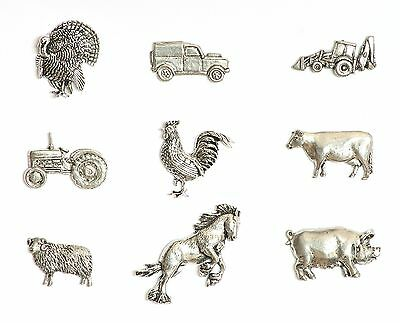 Farming Theme Pewter Fridge Magnets Tractor Cow Land Rover Sheep MULTI LISTING