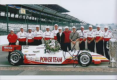 Kenny BRACK 12x8 Signed INDYCAR Race Team Photo Autograph Genuine AFTAL COA