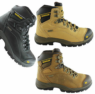 Caterpillar Cat Diagnostic Mens Steel Toe Work/safety Boots/shoes/waterproof!