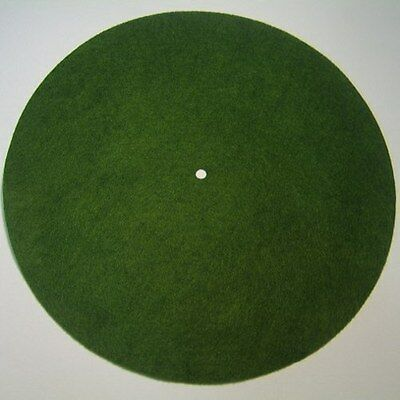 """Victor Phonograph SMALL LIGHT GREEN Turntable Felt - Round (fits 10"""" diameter)"""