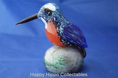 Langham Glass Hand-Made Crystal Kingfisher - New / Boxed