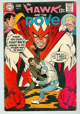 Hawk and the Dove #2 October 1968 VG Ditko Cover and Art