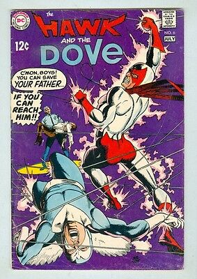 Hawk and the Dove #6 June 1969 VG Last Issue