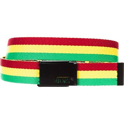 Vans Off The Wall Witty Rasta Unisex Reversible Web Belt OSFA New NWT