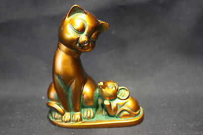 Cat and Mouse statue  - antique bronze finish (AN132)