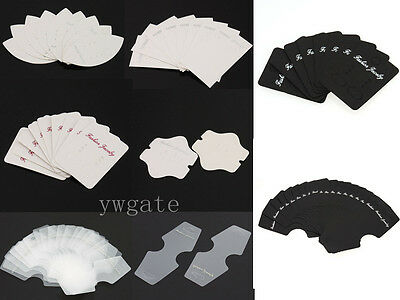 Hot Fashion Craft Earring Jewelry Display Favour Hanging Paper/Plastic Card Tags