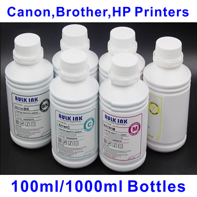 6x 1L Bulk Dye Ink for Canon HP Brother Printer - Desktop or Wide Format
