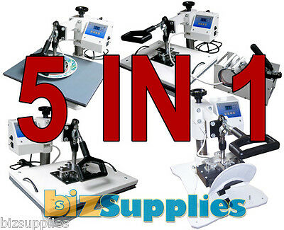5IN1 Multi Function Heat Press Machine Cup,Mug,Plate,Cap & Swing Away Press